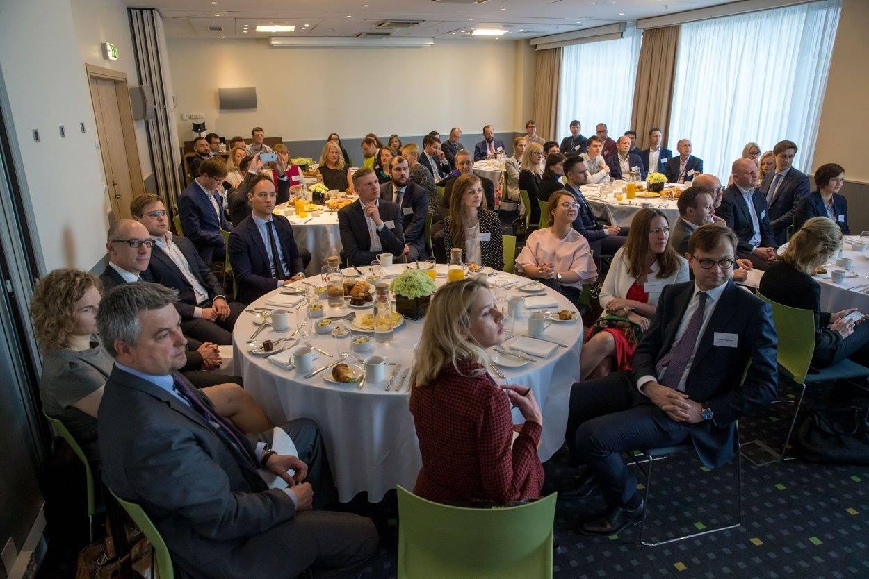 """Lewben Group"" CFO Marius Miškinis and ""Nordgain"" Head of Business Development Martynas Kairys"